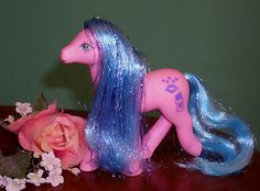 My Little Pony Vintage Sweet Kisses Pony Happy Hugs Gorgeous Hair and Tinsel | eBay