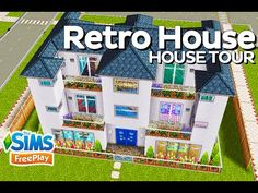 The Sims FreePlay - Retro House (Original design) - YouTube