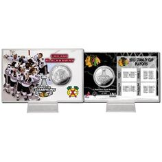 Chicago Blackhawks 2013 NHL Stanley Cup Final Champions Coin Card