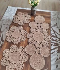 Crochet Round Cream White Doily Centerpiece Crochet Home Decor Crochet Table Decor made in Lithuania Crochet Diy, Crochet Home Decor, Crochet Round, Filet Crochet, Hand Crochet, Crochet Ideas, Crochet Table Runner Pattern, Crochet Motif Patterns, Crochet Tablecloth
