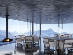 • DIS Project •  ℹ️ The highest spa in the world (2'390 masl) in 📍Disentis, Switzerland   ||   Interior concept for the restaurant Landscape Planner, Commercial Complex, Interior Concept, Northern Italy, Working Area, Architecture Design, Spa, Restaurant