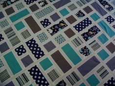 Cute quilt for boy