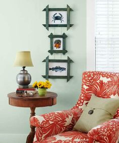 How to give plain picture frames a cottage look with an easy lattice overlay. | Photo: Laura Moss | thisoldhouse.com