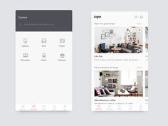 Home life user interface by Huang #Design Popular #Dribbble #shots