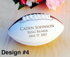 Ring Bearer Gifts Engraved Football Mini Football by crimsonking