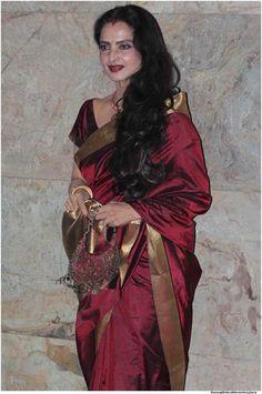 Rekha - Apotheosis of Graceful Beauty in Kanchivaram Sarees