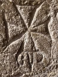 st peters pauls interior..hidden graffiti Temple Ewell Sussex England Knights Templars Hearld Symbol