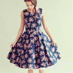 Handmade vintage inspired dress by Plum and Pigeon