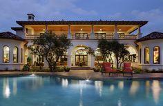 Love this design, especially the upstairs porch! JAUREGUI Architecture Interior Construction - mediterranean - exterior - austin - JAUREGUI Architecture Interiors Construction
