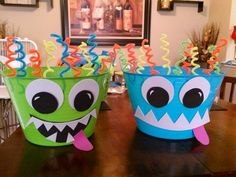 DIY Monster Party ice buckets for kiddie drinks! Boy First Birthday, Birthday Fun, First Birthday Parties, Birthday Party Themes, First Birthdays, Daughter Birthday, Birthday Ideas, Little Monster Birthday, Monster 1st Birthdays