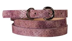 Womens Stylish Reptile Print Skinny Bonded Sleek Leather Belt $9.80