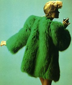 1971 coat by Yves Saint Laurent, inspired by 1940s.