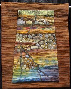 Quilt Art ~ Ground Water by Denise Schmidt Pacific International Quilt Festival 2014