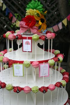 cupcake holder....  holes for popcakes, could use for anything, could use different levels of trays  put on turntable?
