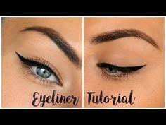 Winged Eyeliner Tutorial for Hooded Eyes ♡ My Tips & Tricks - YouTube #wingedlinertricks