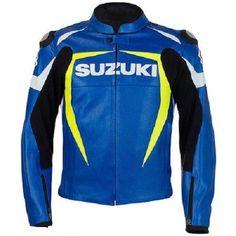 SUZUKI GSXR MOTORCYCLE LEATHER JACKET MOTORBIKE SPORTS LEATHER JACKET #Handmade #BikerJackets