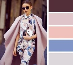 20 brilliant color combos for your wardrobe. Shades of mauve Colour Combinations Fashion, Color Combinations For Clothes, Fashion Colours, Colorful Fashion, Color Combos, Color Schemes, Looks Street Style, Color Balance, Color Palettes