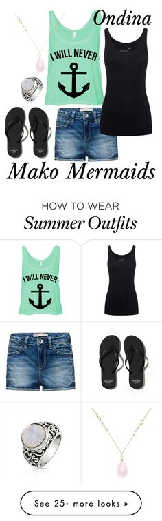 """""""Mako Mermaids: Ondina"""" by number-3 on Polyvore featuring Abercrombie & Fitch, White House Black Market, Bling Jewelry and Juvia"""