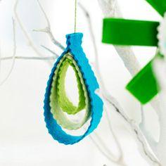 Felt ornament. WAY easy and cute.
