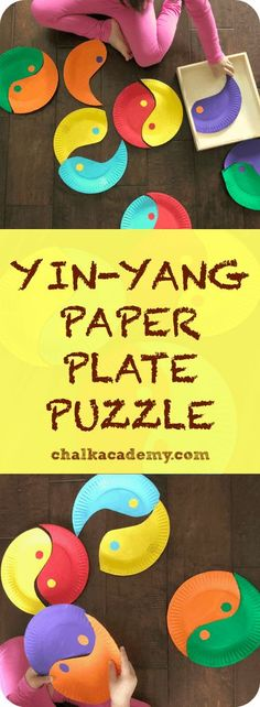 Yin-Yang Paper Plate Puzzle – a fun Chinese cultural activity for children to learn about yin and yang as well as color patterns! Diversity Activities, Kindergarten Activities, Infant Activities, Preschool Activities, Culture Activities, Yin Yang, Multi Cultural Crafts For Kids, Multicultural Activities, Puzzle Crafts