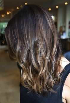 This look forgoes harsh blonde ends for a more subtle effect, and we're a fan of anything that takes less bleach to happen.Image via Pinterest