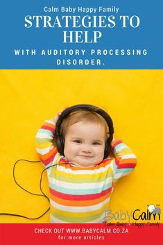 Here are some practical strategies which may help your child cope with Auditory Processing Disorder. Parenting Quotes, Parenting Advice, Auditory Processing Disorder, Sensory Processing, Baby Calm, Parenting Done Right, Parenting Toddlers, Parent Resources