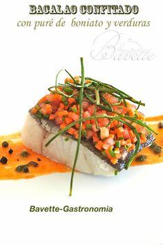 Bacalao confitado, con puré de boniato y verdurasBavette | Bavette