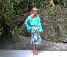 {Saia Island} saia midi com estampa tropical da coleção Resort 2015