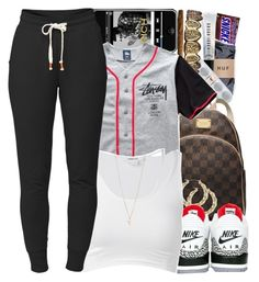 """I wanna be rich .. Dont see nothing wrong with wanting more . . I wanna be rich - No. 521"" by dessboo ❤ liked on Polyvore featuring HUF, Bobbi Brown Cosmetics, Beats by Dr. Dre, MICHAEL Michael Kors, NIKE, Stussy, Helmut Lang, Lija and Minor Obsessions"