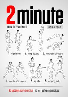 2 minute workout neilarey.com | #fitness #bodyweight