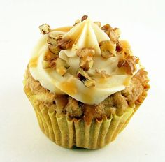 Spiced Apple Cupcakes - Cake, Batter, and Bowl