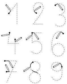 Preschool Writing, Numbers Preschool, Preschool Learning Activities, Kids Learning, Montessori Math, Kindergarten Math Worksheets, Math For Kids, Kids Education, Free Printable