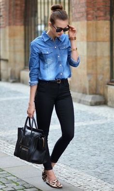 f0dbe77c84 9 Best Denim shirt black skirt! images