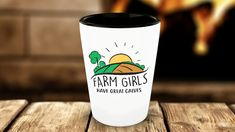 Farm Girls Have Great Calves Funny Shot Glass