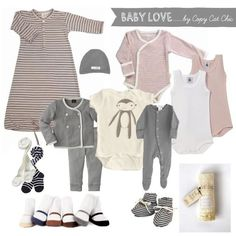 The only baby clothes you'll actually use. This is exactly what I am trying to go for – practical but cute. This is already mostly gender-neutral and wouldn't require much tweaking for a boy either.  | followpics.co