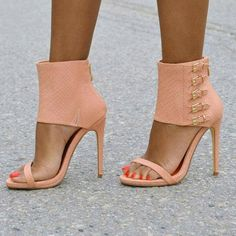 Shoespie Stylish Ankle Wrap Buckles Back Zipped Stiletto Heel Sandals - Sexy High Heels Women Shoes - Sexy High Heels Women Shoes Hot Shoes, Crazy Shoes, Me Too Shoes, Stilettos, Stiletto Heels, High Heels, Pretty Shoes, Beautiful Shoes, Shoe Boots