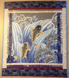 Quilts for Sale. Quilts made by American and Canadian quilters. Place to buy and sell quilts online. Quilts Online, Children's Quilts, Quilts For Sale, Quilt Making, Waterfall, Wall, Painting, Painting Art, Walls