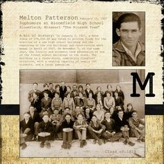 Family history scrapbook layout - cut, paste & color or simply do it online on MyHeritage.com