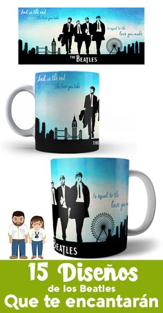 Tea And Books, The Beatles, Ideas Para, Coffee Mugs, Tableware, How To Make, Business, Design, Mug Ideas