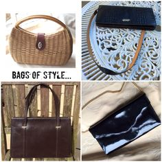 Lots of lovely vintage handbags, shoulder bags, clutch bags, purses and evening bags at Coolclobber.