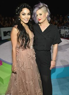 Dynamic duo: The actress posed with TV personality Kelly Osbourne, who hosted the red carp...