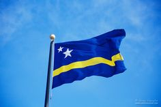 Flag of Curacao World Thinking Day, Happy Week, Flags Of The World, Filming Locations, Beautiful Islands, Girl Scouts, Caribbean, Banner, History