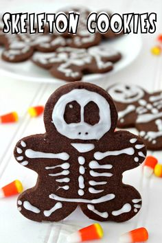 Chocolate Skeleton Cookies #halloween #chocolate #cookie #recipe