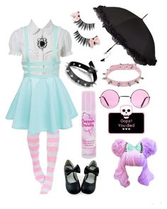 """Pastel Goth🎀✖️"" by keshib on Polyvore featuring moda, Miss Selfridge e Cotton Candy"