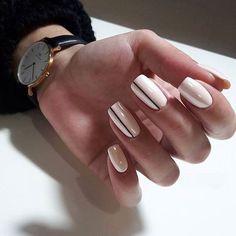 Kein Name - Nageldesign - Nail Art - Nagellack - Nail Polish - Nailart - Nails - crismas Perfect Nails, Gorgeous Nails, Pretty Nails, Nail Designs Spring, Nail Art Designs, Nails Design, Design Art, Stripe Nail Designs, Design Ideas