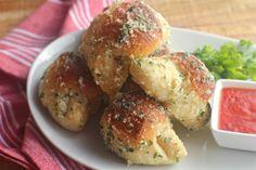 Pizza Balls and Garlic Parmesan Crescents   The Seaside Baker