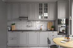 Серый цвет – не значит скучный и унылый. Кухня Органза в стиле современной классики из натурального дерева http://www.aldas.ru/product/%20kuhnja-organza/