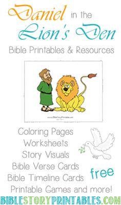 Daniel in the Lion's Den Printables