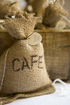 A great DIY Coffee Bag Party Favor. If you're a coffee lover like me then you'll love this too!