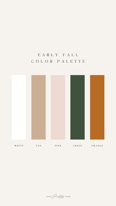 An early fall color palette to help you when you're putting together outfits for August and September Classic Outfits For Women, Late Summer Outfits, Fall Color Palette, Fall Trends, Pretty, September, Style, Swag, Autumn Color Palette